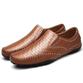 Embossed Leather Glitter Men's Sale Shoes