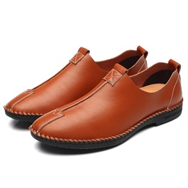 PU Plain Slip-On Round Toe Chic Men's Casual Shoes