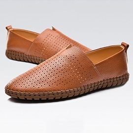 PU Hollow Breathable Slip-On Women's Shoes