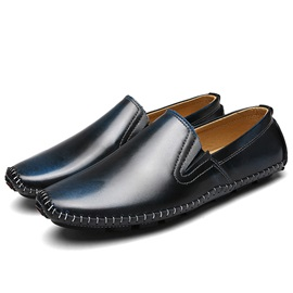 Patent Leather Slip-On Round Toe Men's Casual Shoes