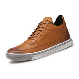 PU Mid-Cut Upper Lace-Up Men's Shoes