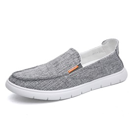 Canvas Round Toe Slip-On Men's Casual Shoes