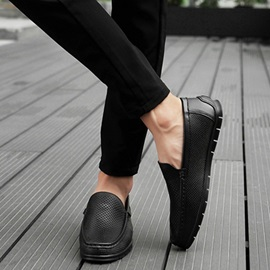 Hollow Round Toe Slip-On Men's Casual Shoes