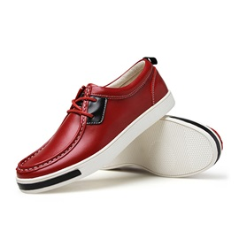 PU Lace-Up Round Toe Men's Casual Shoes