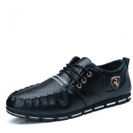 Hollow Round Toe Lace-Up Men's Casual Shoes