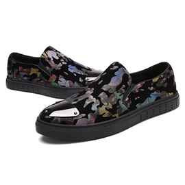 PU Camouflage Round Toe Slip-On Men's Shoes