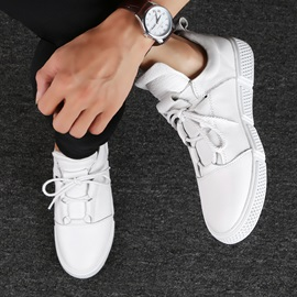 Plain Low-Cut Upper Lace-Up Men's Casual Shoes
