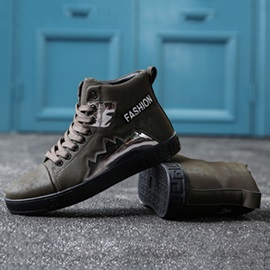High-Cut Upper Letter Lace-Up Men's Skate Shoes