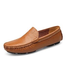 PU Round Toe Slip-On Men's Casual Shoes