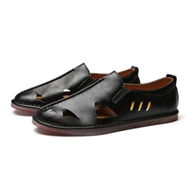 Plain Hollow Round Toe Men's Casual Shoes