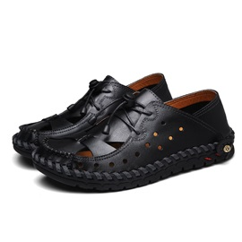 Lace-Up Soft Leather Men's Casual Shoes