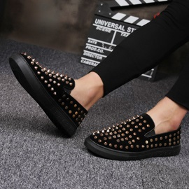 Low-Cut Upper Slip-On PU Rivet Men's Loafers