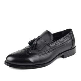 Tassels Pointed Toe Slip-On Men's Shoes