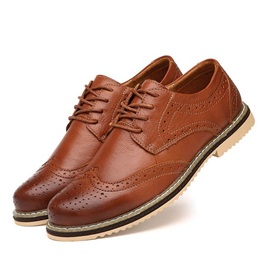 Round Toe Front Lace-Up Men's Brogues