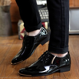 Pointed Toe PU Lace-Up Men's Dress Shoes
