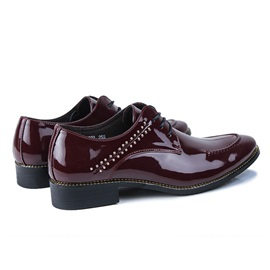 Studded Pointed Toe Lace-Up Men's Dress Shoes