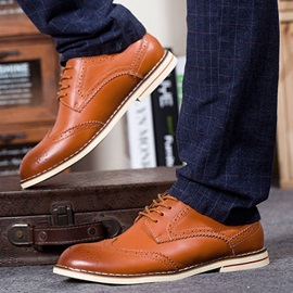 Lace-Up Round Toe Men's Brogues