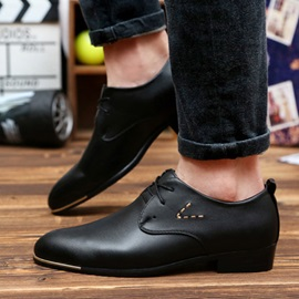 British Pointed Toe Lace-Up Men's Dress Shoes