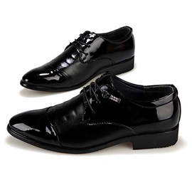 Black Pointed Toe Men's Dress Shoes