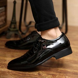 Black Ruched Pointed Toe Dress Shoes