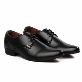 Pointed Toe Lace-Up Men's Dress Shoes