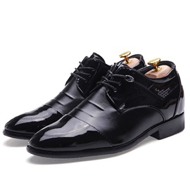Ruched Plain Toe Lace-Up Dress Shoes