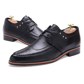 Breathable Pointed Toe Lace-Up Dress Shoes
