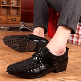 Thread Pointed Toe Men's Dress Shoes