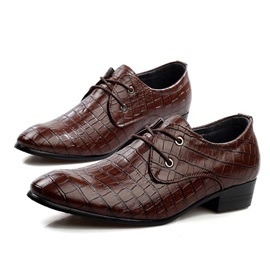 Embossed Pointed Toe Dress Shoes