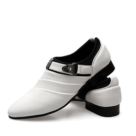 Buckles Ruched Slip-On Men's Dress Shoes