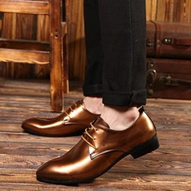 Gorgeous Round Toe Lace-Up Men's Dress Shoes