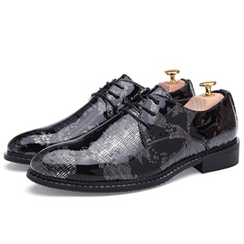 British Color Block Lace-Up Men's Dress Shoes