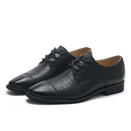 Retro Cape Toe Lace-Up Dress Shoes