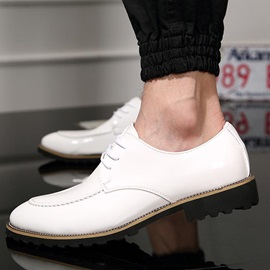 PU Square Heel Lace-Up Dress Shoes