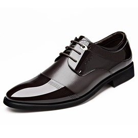Breathable Round Toe Lace-Up Dress Shoes