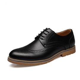 Breathable Wingtip Lace-Up Dress Shoes