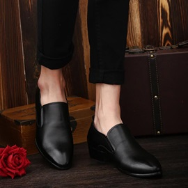 Solid Color Pointed Toe Dress Shoes