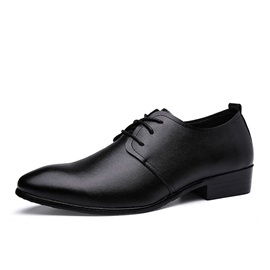 Solid Color Plain Toe Dress Shoes