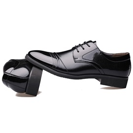 Elegant Faux Leather Lace-Up Business Shoes