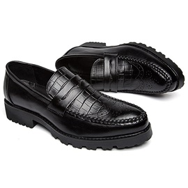 Embossed PU Thread Men's Business Shoes