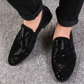 Rhinestone Square Heel Men's Dress Shoes