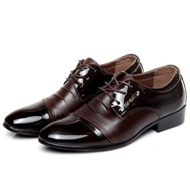 PU Low-Cut Upper Lace-Up Men's Dress Shoes