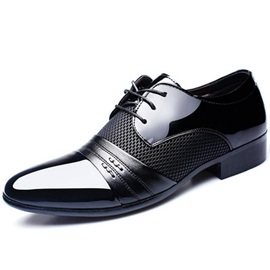 Patchwork Lace Up Men's Dress Shoes