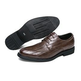 PU Lace-Up Low-Cut Upper Plain Dress Shoes for Men