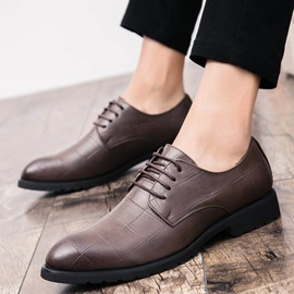 PU Lace-Up Men's Professional Shoes