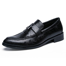 PU Fringe Slip-On Men's Dress Shoes