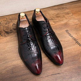 PU Pointed Toe Lace-Up Men's Dress Shoes