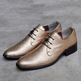 Sequin Pointed Toe Low-Cut Upper Men's Shoes