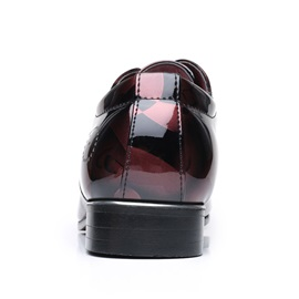 PU Pointed Toe Lace-Up Men's Shoes