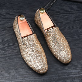 Glitter Slip-On Men's Dress Shoes